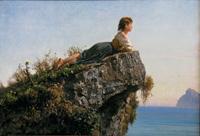 """""""Egli mi pose a giacere su questa roccia, mi dice di guardarti da mattina a sera e dirti sempre: sii felice. Felice."""""""