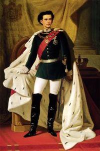 Ludwig II di Baviera nel giorno dell'incoronazione, dipinto di Ferdinand von Piloty, 1865.